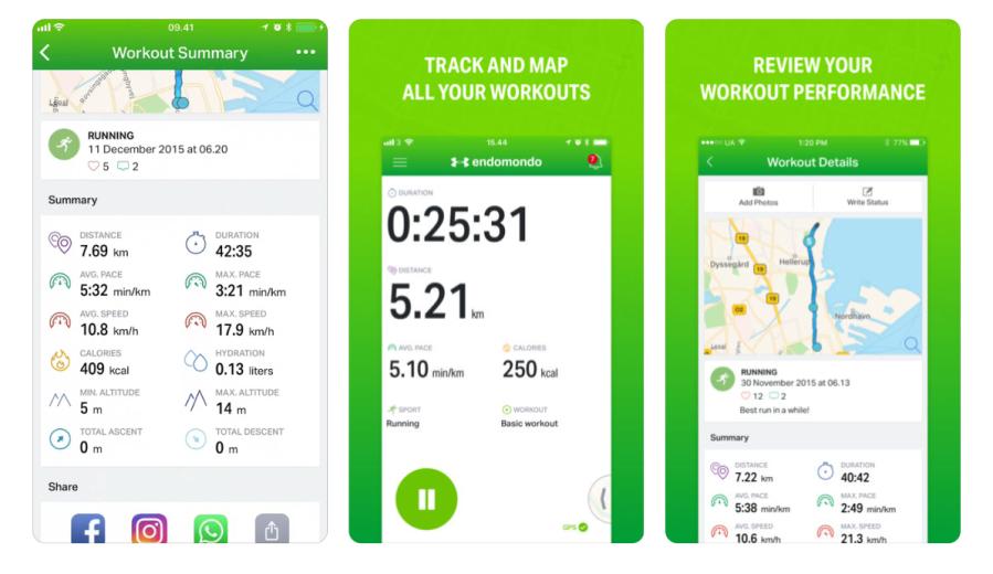 Endomondo running app | santosomartin.com